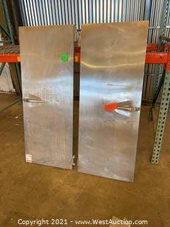 (2) Metal Door