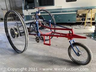 Burning Man Art Trike, 4-person, 5' Diameter Wheels
