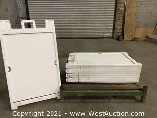 """(4) """"A"""" frame white sign boards"""