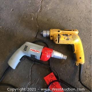 (2) Hilti And Dewalt Hand Drill