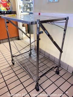 Stainless Steel Collapsing Platform Cart