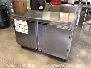 Carrier Beverage-Air Under-Counter Freezer With (2) Sections