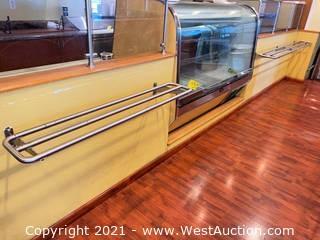 (2) Cafeteria Tray Slide Rails