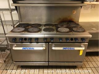 Imperial 10-Burner Electric Range with Two Ovens