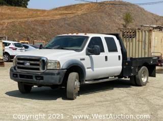 "2006 Ford F-450 V8 Turbo Diesel XL Super Duty Flatbed ""Bulletproofed"" Truck"