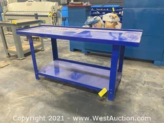 Metal Blue Work Table