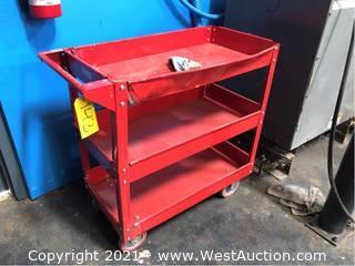 Metal 3 Level Rolling Cart