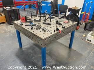 Baileigh WJT-4747-HD Welding Table With (5) Mounting Surfaces And Assorted Accessories