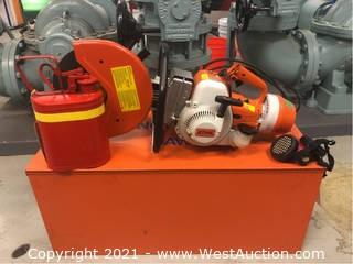 Stihl TS 350 Cut Off Saw with Protective Clothing and Accessories