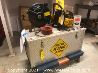 Partner K 1200 Cut Off Saw and Accessories