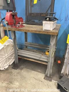 Metal Work Bench (Bench ONLY)
