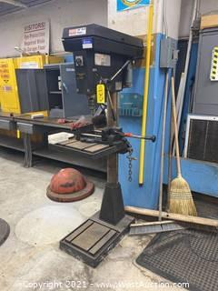 "Dayton 20"" Drill Press with JET Bench Vise"