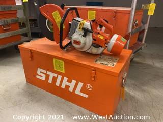 Stihl TS 350 Cutoff Saw In Case