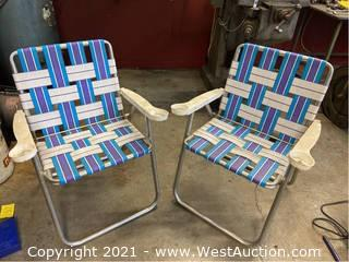 (2) Collapsible Lawn Chairs