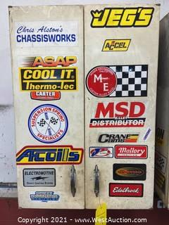 Cabinet With Contents of Auto Parts