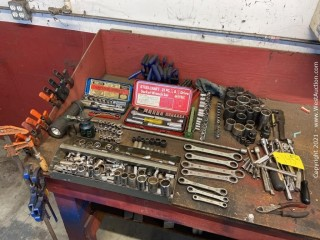 Assorted Tools; Socket Wrench Sets, Metal Clamps, Trigger Clamps