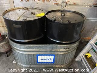 (2) Oil Drum And Containment Area