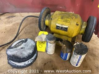 Central Machinery Bench Grinder With Buffing Compound