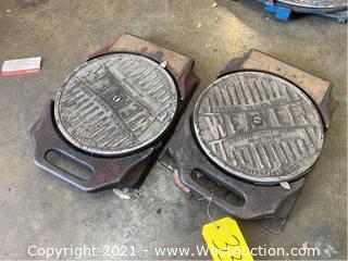 (2) Weaver Alignment Plates