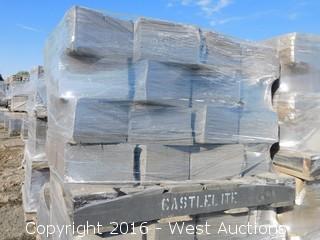 (2) Pallets of Legacy Wall Tan/Brown Retaining Wall Block