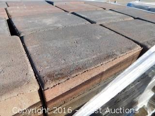 (2) Pallets of Cobble Stone Sonoma Blend Giant Pavers