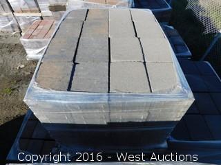 (2) Pallets of Cobble Stone Tahoe Blend Square Pavers