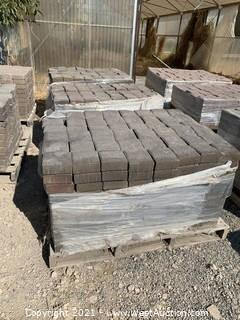 (3) Pallets of Carriage Stone Sonoma Blend Square Pavers