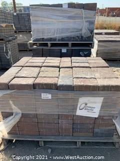 (4) Pallets of Carriage Stone Sonoma Blend Rec Pavers