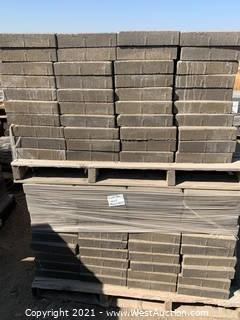 (3) Pallets of Castle Stone Mojave Blend Giant Pavers