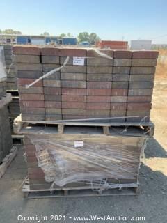 (3) Pallets of Cobble Stone Sonoma Blend Rec Pavers