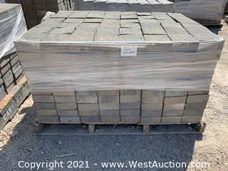 (3) Pallets of Century Stone Tahoe Blend Square Pavers