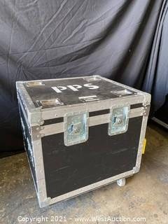 Rolling Road Case with Locking Casters