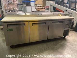 Turbo Air TPR-93SD Pizza Prep Table with (3) Doors
