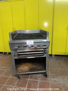 Montague UFS-30R Charbroiler with Stand