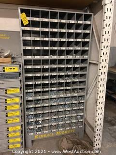 Kimball-Midwest Hardware Organizer With Contents