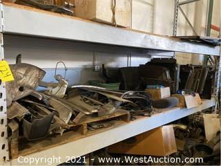 Contents Of Shelf; Jaguar Parts, Assorted Radiators