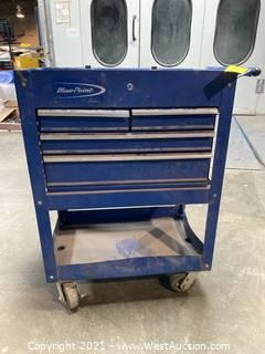Blue Point Tool Box On Caster Wheels