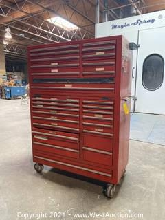 Mac Tools MB1720 And MB 1700 Tool Box Stack On Caster Wheels