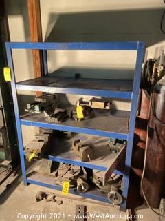 Blue Metal Shelving Unit