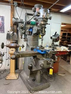 Bridgeport Manual Mill With Shaper Attachment
