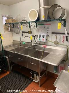 Stainless Steel 3-Basin Sink