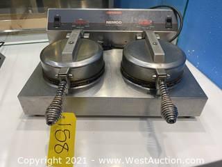 Nemco 7030A-2 Cast Aluminum Double Grid Waffle Cone Maker