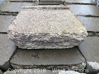 (4) Pallets of Garden Wall Tan/Brown Retaining Wall Block
