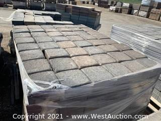 (3) Pallets of Mixed Style, Mixed Color Blend Square Pavers