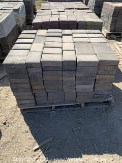 (3) Pallets of Mixed Style, Mixed Color Blend Rec Pavers