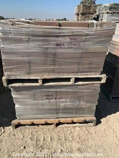 (3) Pallets of Mixed Style, Mixed Color Blend Giant Pavers