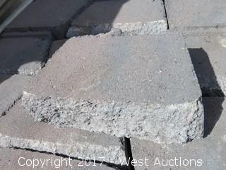 (2) Pallets of Garden Wall Red/Charcoal Retaining Wall Block