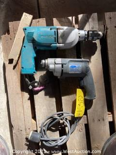 (2) Electric Hand Drills