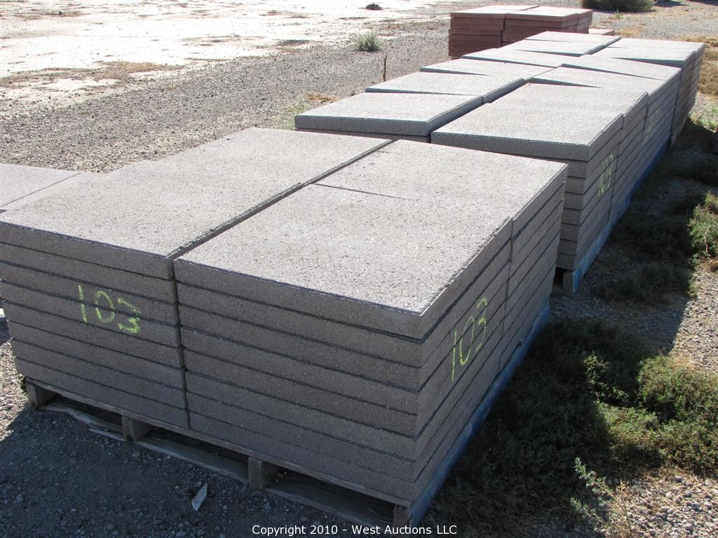 24 24 Concrete Pavers Concrete Pavers 2424 Offset Patio: Auction: Complete Liquidation Of Tristar